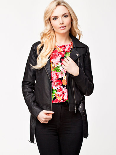 Albany L/S Biker Jacket - French Connection - Black - Jackets And Coats - Clothing - Women - Nelly.com