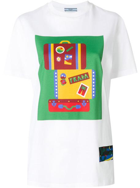 Prada t-shirt shirt t-shirt women white cotton top