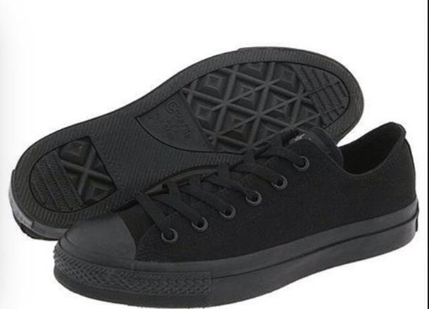 shoes black converse black lase