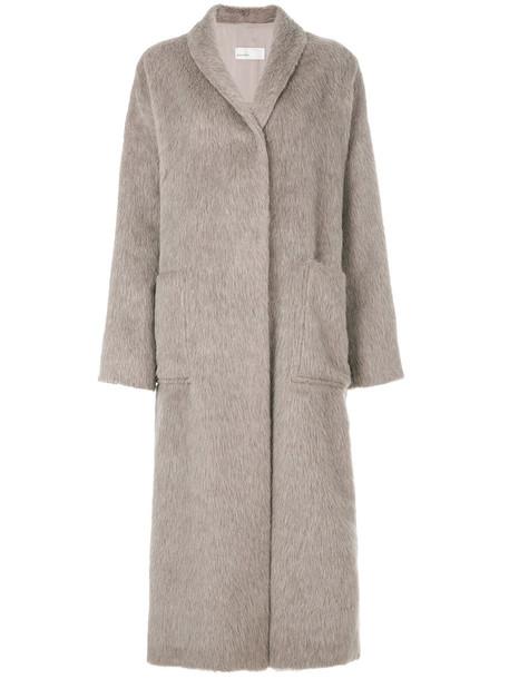 GENTRY PORTOFINO coat women nude cotton wool