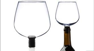 home accessory guzzlebuddy wineglass winebottle