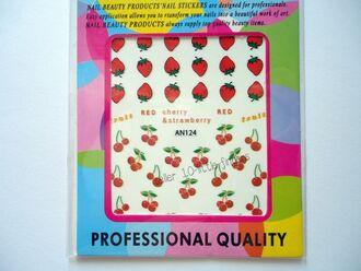 cherry strawberry nail accessories decoration nail polish nail manicure pedicure beach art fuit stickers