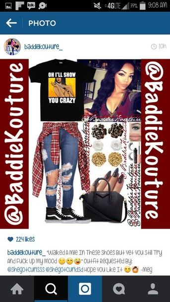 shirt baddiekouture_ outfit outfit outfit idea