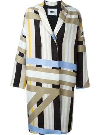coat striped coat women nude cotton