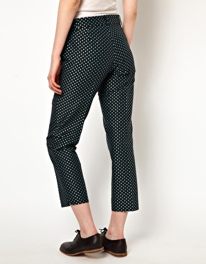 Boutique by Jaeger | Boutique By Jaeger Slim Leg Trousers In Polka Dot at ASOS