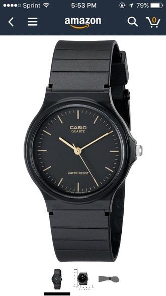 jewels casio black watch