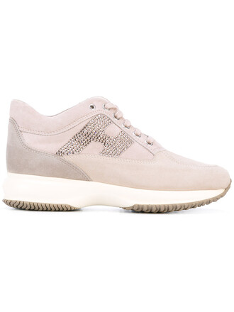 women sneakers lace leather nude cotton shoes