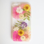 phone cover,summer summer handcraft,flowers,floral,cute,cool,gift ideas,pressed flowers,pink,daisy,love,handmade,handcraft,iphone 6s,iphone 6s plus,valentines day gift idea,holiday gift,mothers day gift idea,iphone cover,iphone case,iphone,samsung galaxy cases