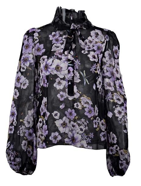 GIAMBATTISTA VALLI shirt floral shirt floral black top