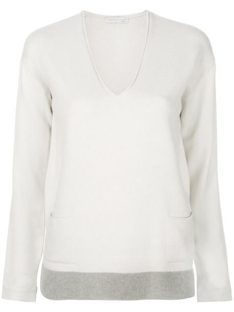 Fabiana Filippi pullover women nude silk sweater