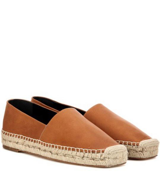 Balenciaga espadrilles leather brown shoes