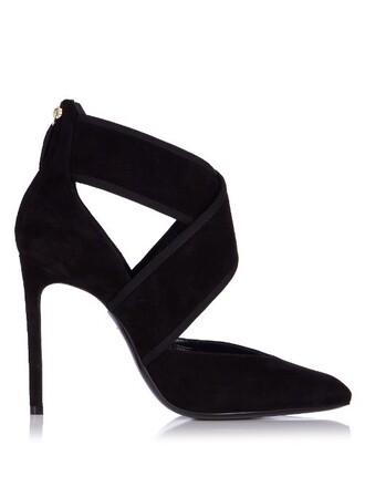 pumps velvet black shoes