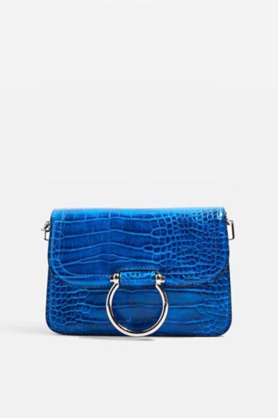 Topshop cross bag blue