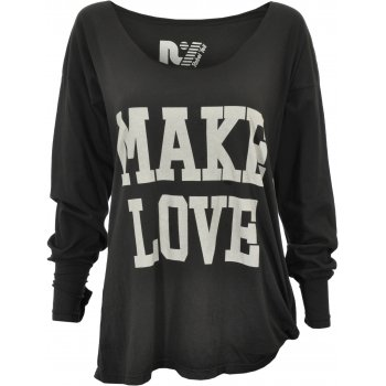 Rebel yell make love not war long sleeved boyfriend t