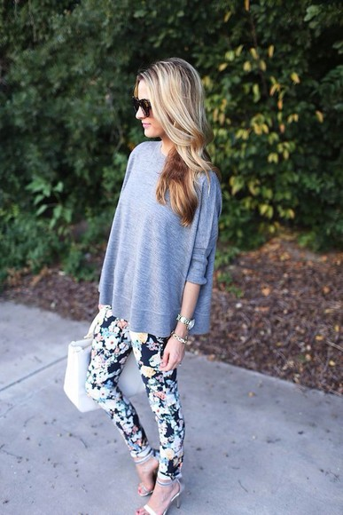 jeans skinny jeans top colorful bright printed pants spring