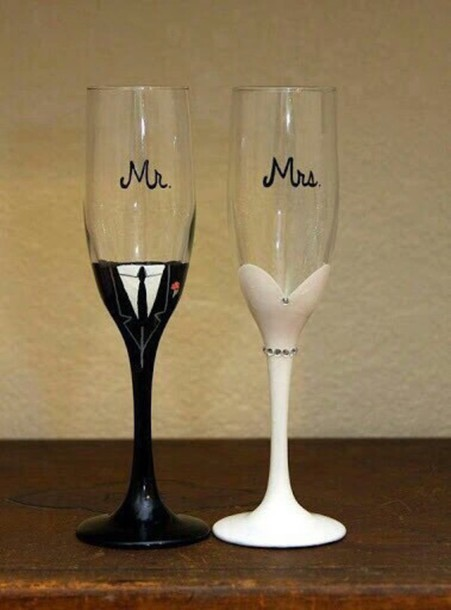 home accessory mr mrs glasses