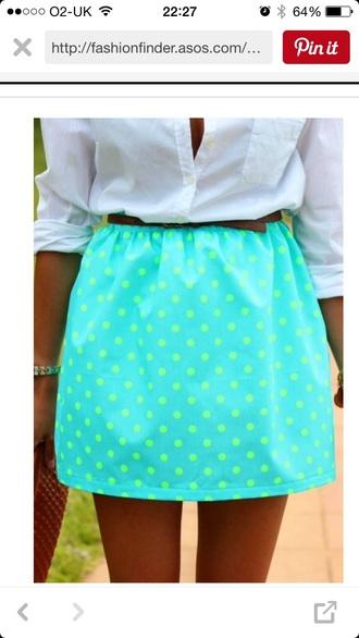 skirt polka dots green skirt polka dot skirt