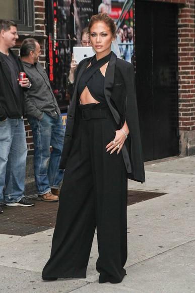 black pants high waisted pants