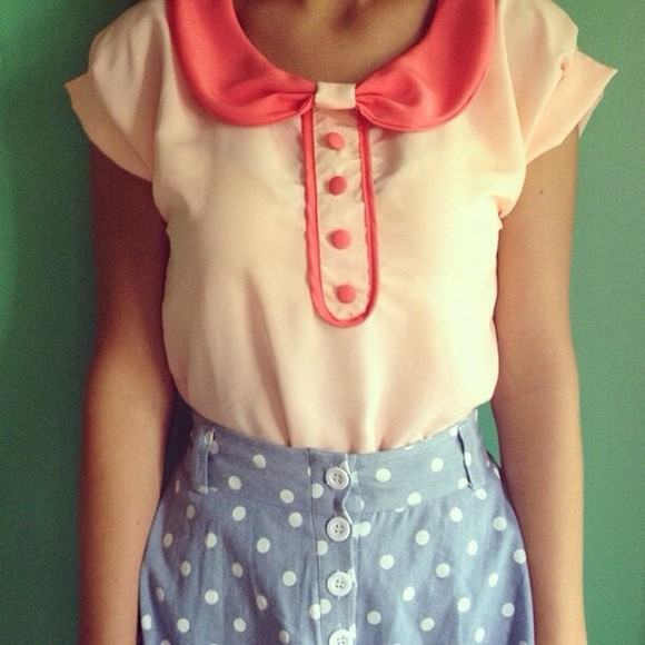 peter pan collar collar blouse white blouse pink blouse