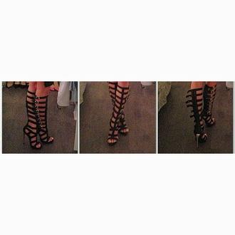 shoes heels gladiators black and gold designer designer shoes straps