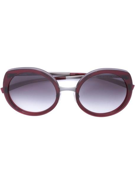 Jil Sander metal women sunglasses red