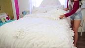 shirt,macbarbie07,bedding,white,blanket,youtube