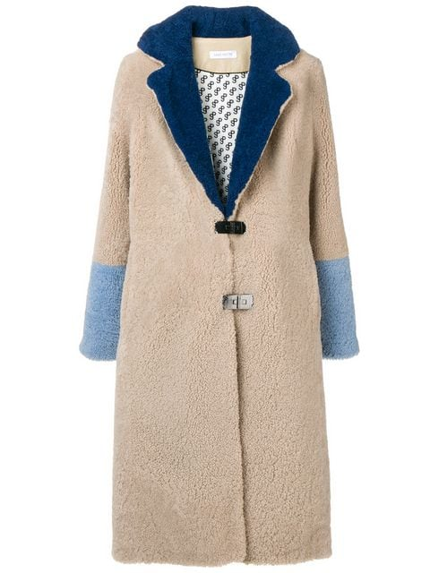 Saks Potts Febbe Shearling Coat - Farfetch