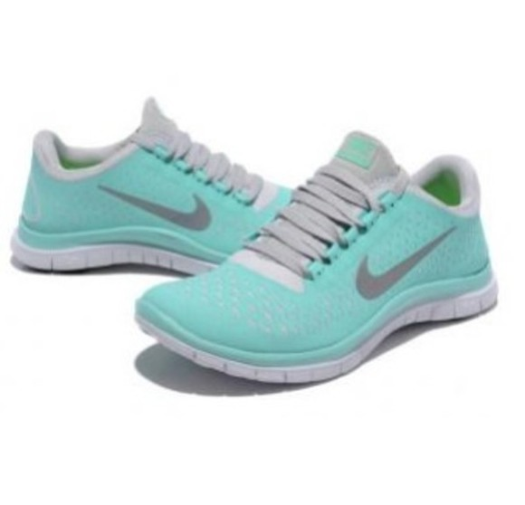 shoes nike mint green grey