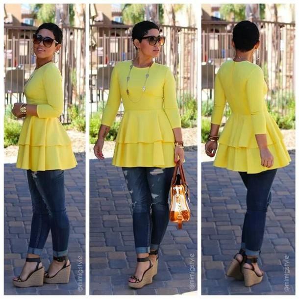 blouse jeans shoes