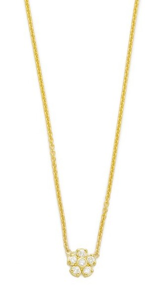 clear necklace gold jewels