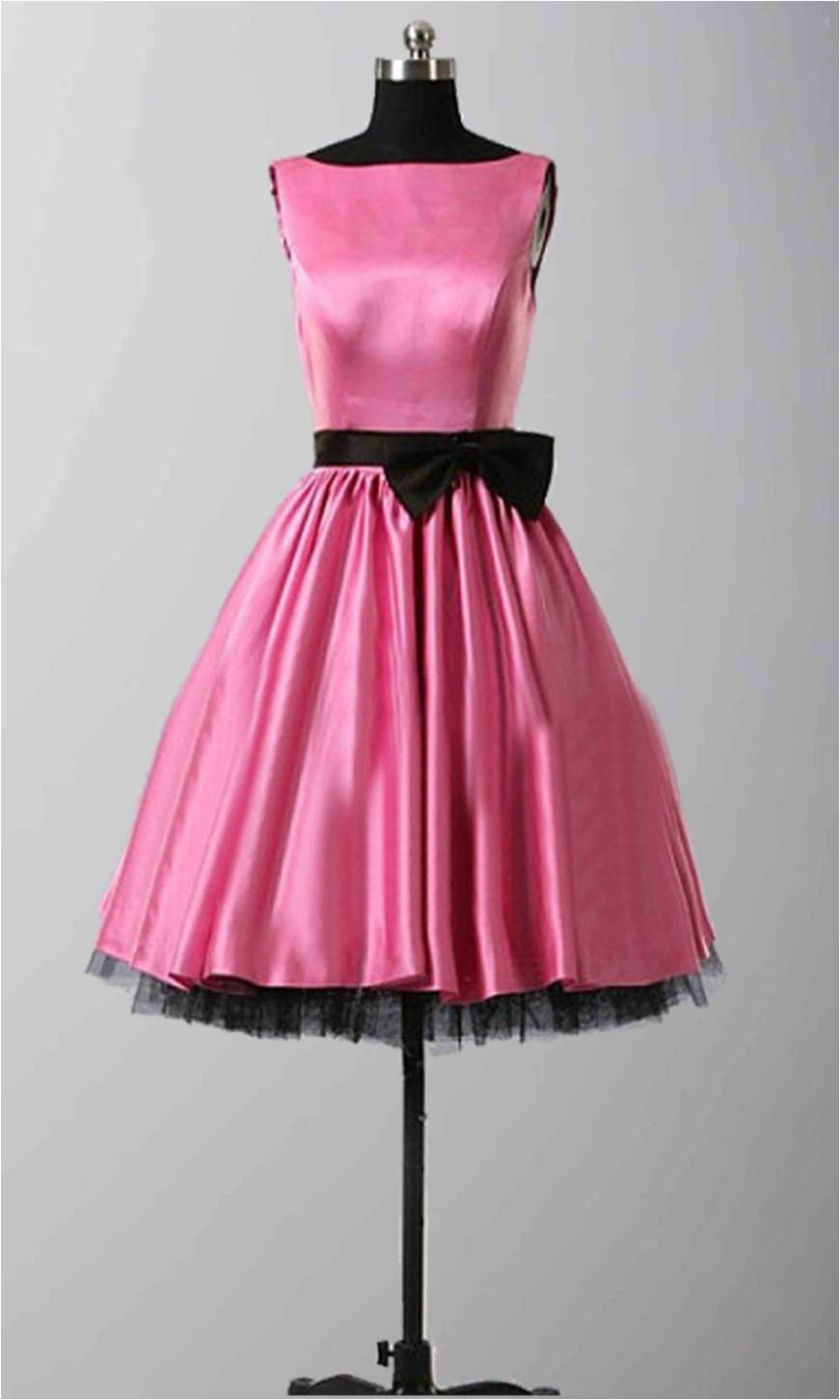 Bateau Pink Short Satin BowKnot Retro Bridesmaid Gowns KSP278 [KSP278] - £85.00 : Cheap Prom Dresses Uk, Bridesmaid Dresses, 2014 Prom & Evening Dresses, Look for cheap elegant prom dresses 2014, cocktail gowns, or dresses for special occasions? kissprom.co.uk offers various bridesmaid dresses, evening dress, free shipping to UK etc.