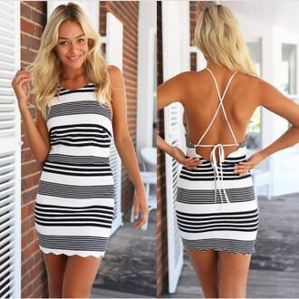 dress maries boutique stripes mini
