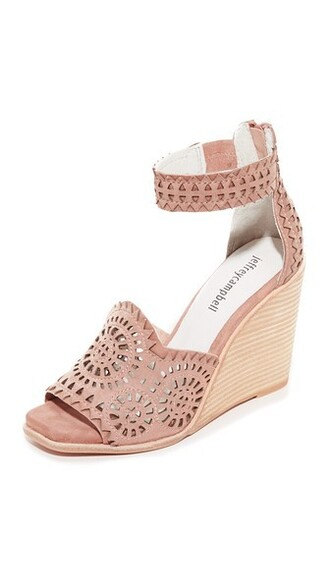 wedges blush shoes