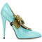 Gucci - elaisa pumps - women - calf leather/leather - 39, blue, calf leather/leather