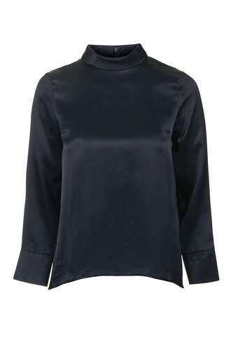 Turtle Neck Satin Blouse 81