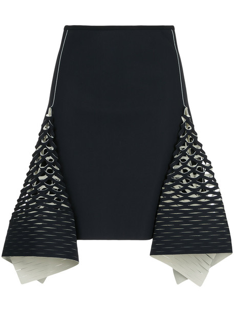 Dion Lee skirt mini skirt mini women spandex blue