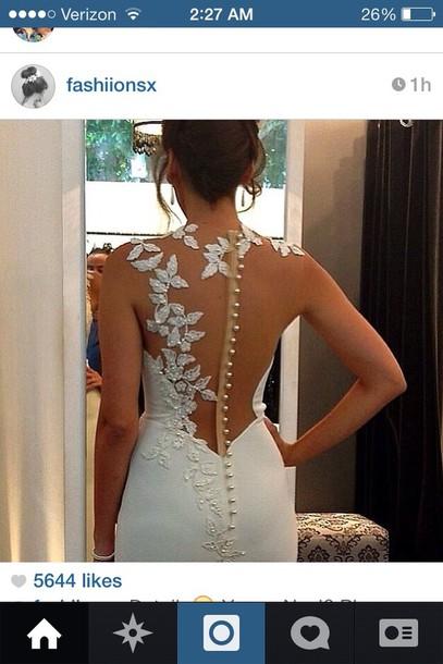 dress white flowery