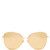 Cat-eye yellow-gold plated sunglasses