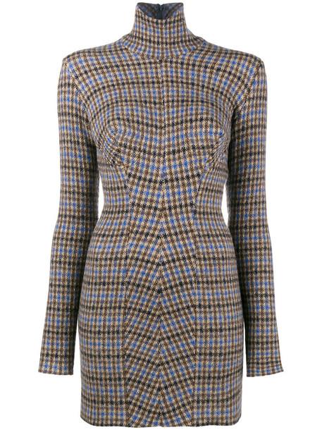 dress women cotton wool brown