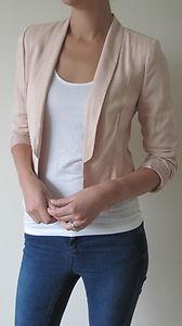 Brand new miss selfridge nude jacket / blazer rrp£45 size 6 8 10 12 14 (ms09)