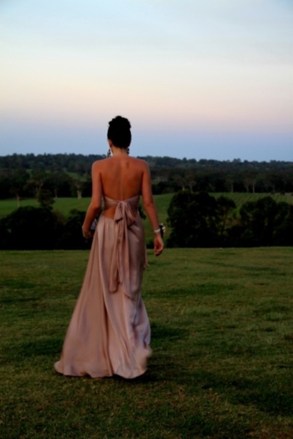 dress bow pink maxi dress long dress open back beautiful prom backless evening dress prom dress bag shoes open back dresses