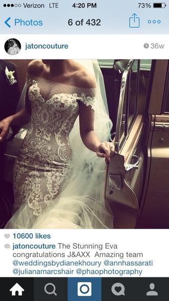 dress lace sheer jatoncouture wedding dress embroidered dress sheer dress mermaiddresses couture dress lace wedding dress marriage dress