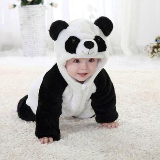 pajamas baby panda onesie