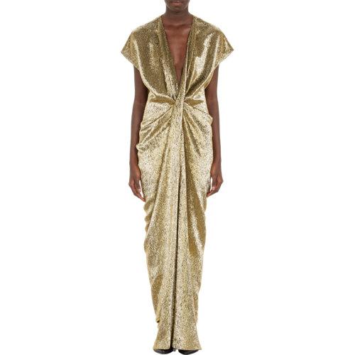 Lanvin draped lamé gown at barneys.com