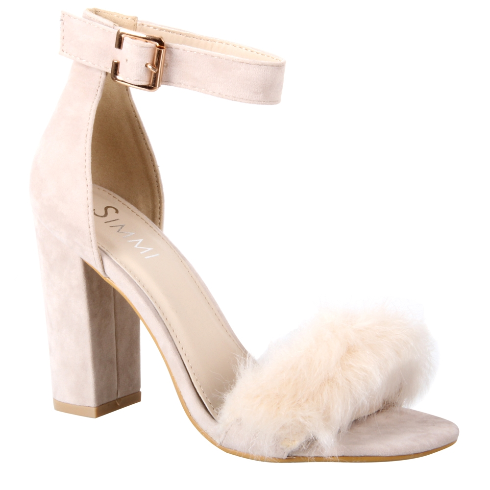 7c5acfd5fdf Simmi Shoes  Sandals    Demi Faux Fur Block Heels