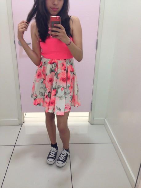 dress pink floral