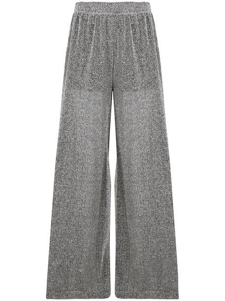 Mm6 Maison Margiela glitter women grey pants