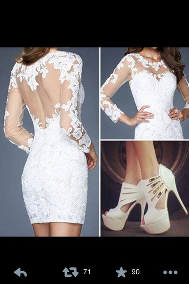 dress white lace lace dress cute dress white dress