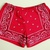 EXOH Clothing — Red Bandana Shorts