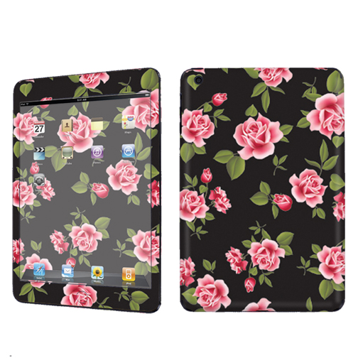 Usa apple ipad mini black rose garden case decal vinyl cover skin sticker